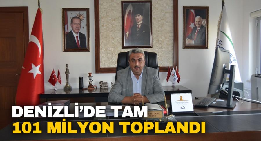 DENİZLİ'DE TAM 101 MİLYON TOPLANDI - OBJEKTİF DENİZLİ HABER