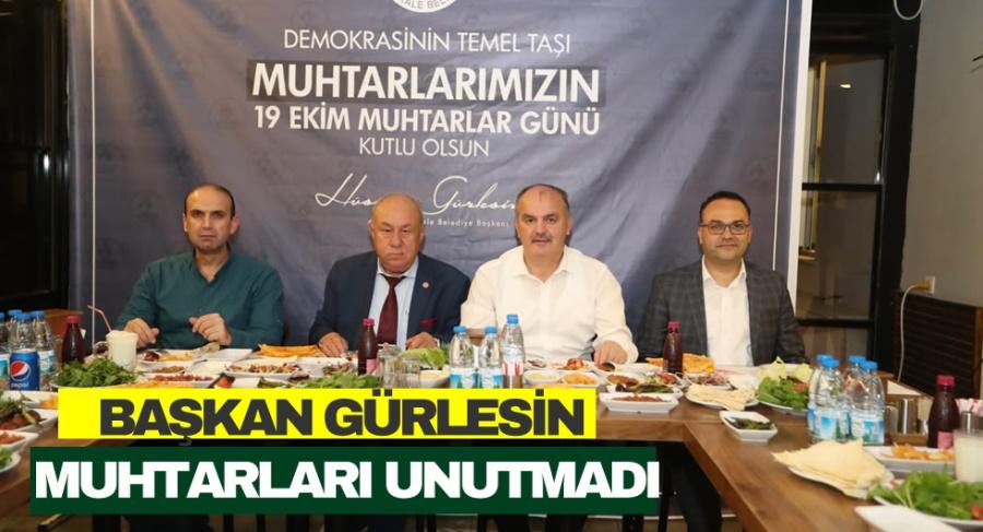 BAŞKAN GÜRLESİN  MUHTARLARI UNUTMADI - OBJEKTİF DENİZLİ HABER