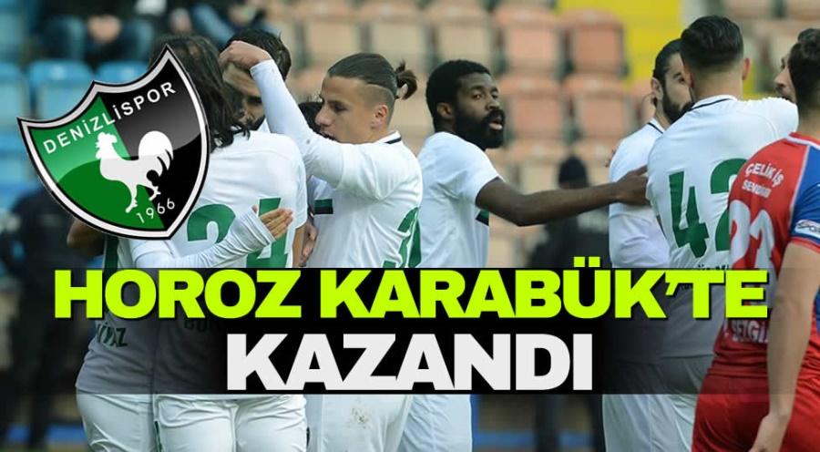 DENİZLİSPOR KARABÜK'TE KAZANDI