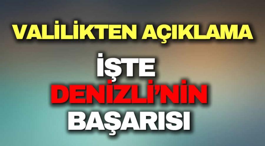 İŞTE DENİZLİ'NİN BAŞARISI - OBJEKTİF DENİZLİ HABER