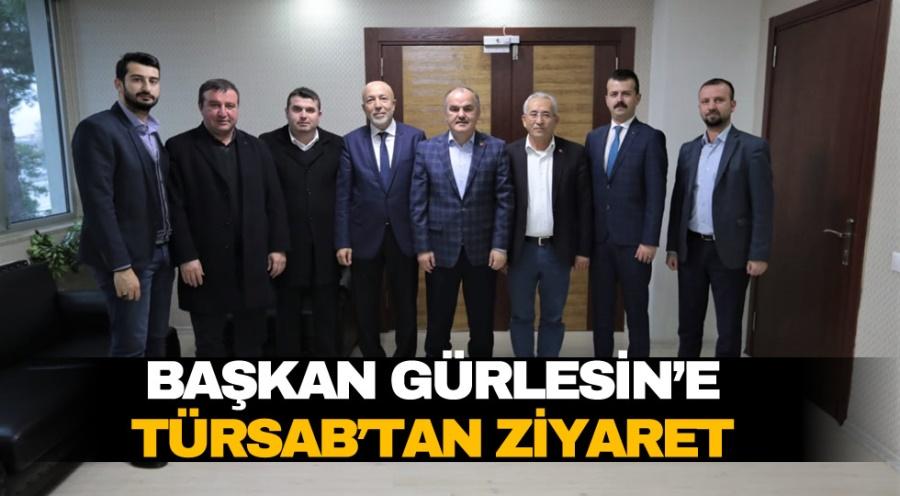 BAŞKAN GÜRLESİN'E TÜRSAB'TAN ZİYARET