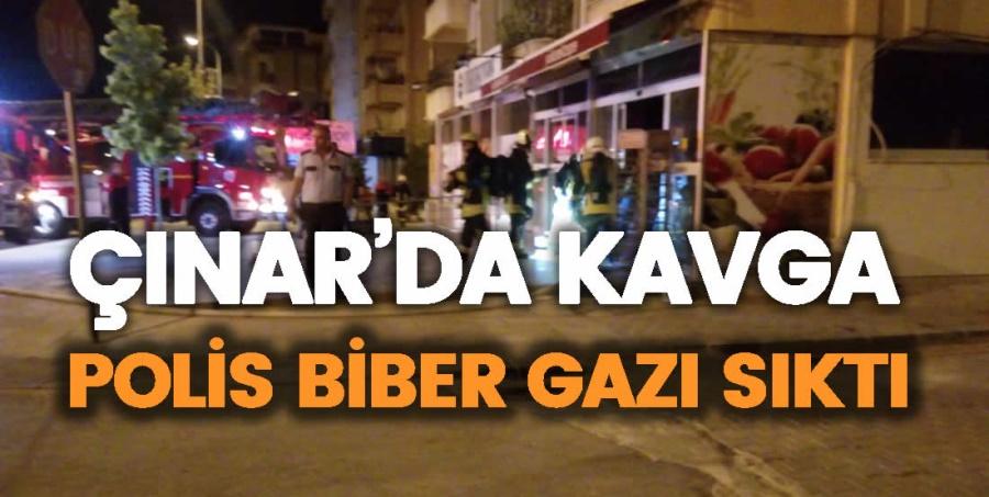 ÇINAR'DA KAVGA. POLİS BİBER GAZI SIKTI - OBJEKTİF DENİZLİ HABER