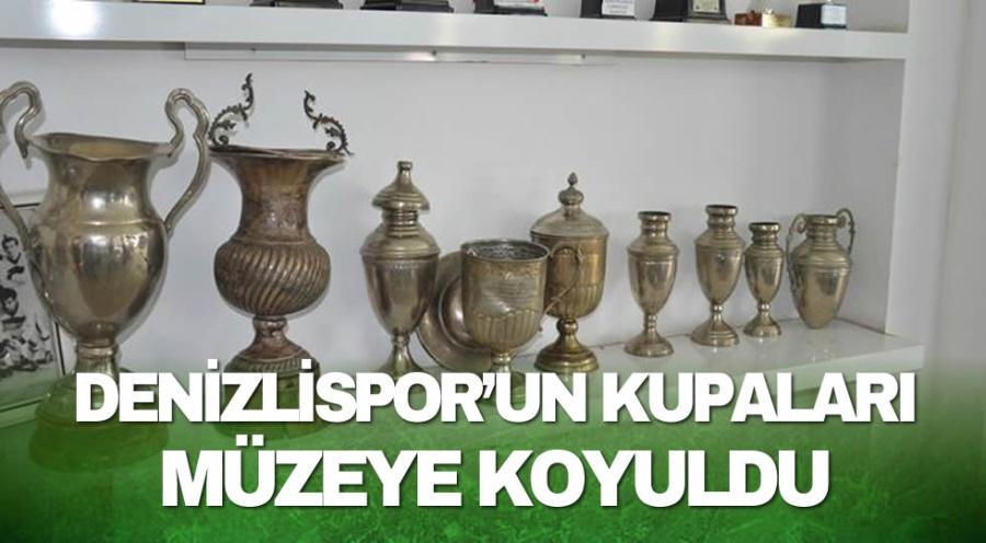 DENİZLİSPOR'UN KUPALARI MÜZEYE KOYULDU