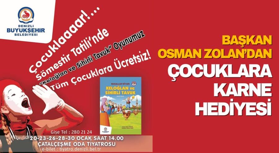 Başkan Osman Zolan'dan çocuklara karne hediyesi