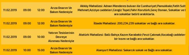 Dikkat Yarın Elektrik Kesintisi Var - OBJEKTİF DENİZLİ HABER