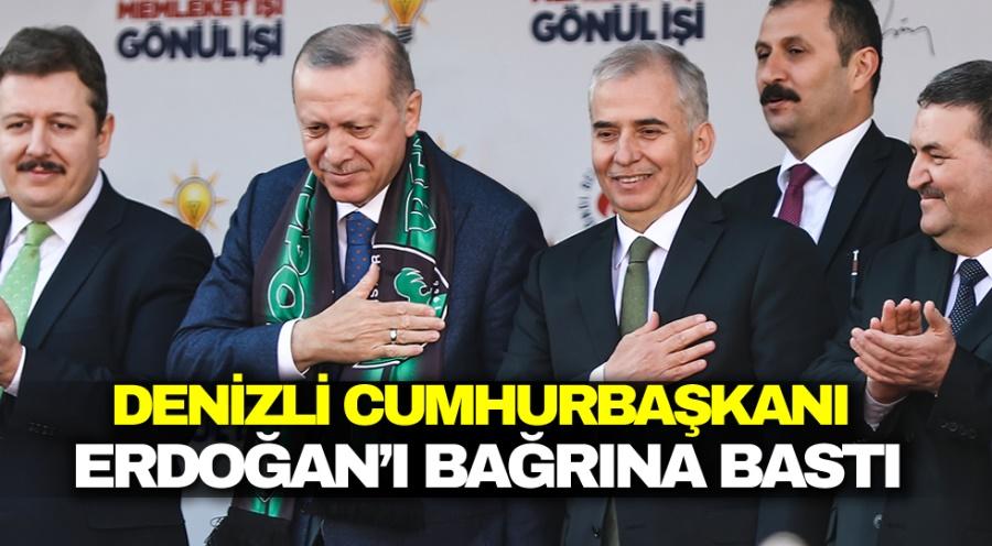 Denizli, Cumhurbaşkanı Erdoğan'ı bağrına bastı