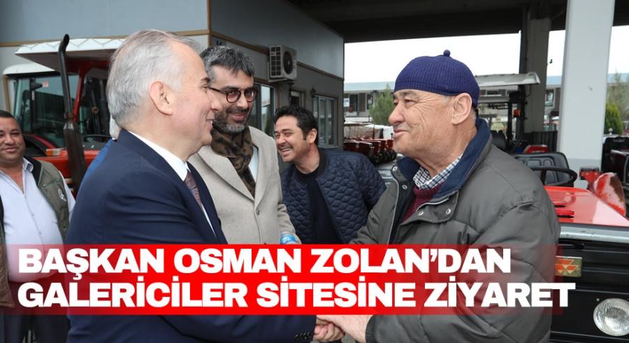 BAŞKAN OSMAN ZOLAN'DAN GALERİCİLER SİTESİNE ZİYARET