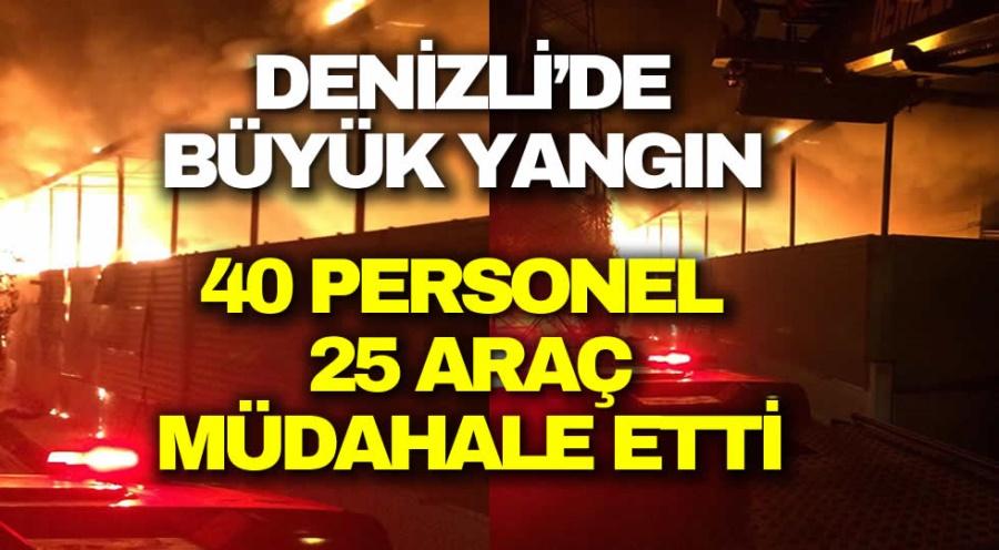 40 PERSONEL  25 ARAÇ  MÜDAHALE ETTİ