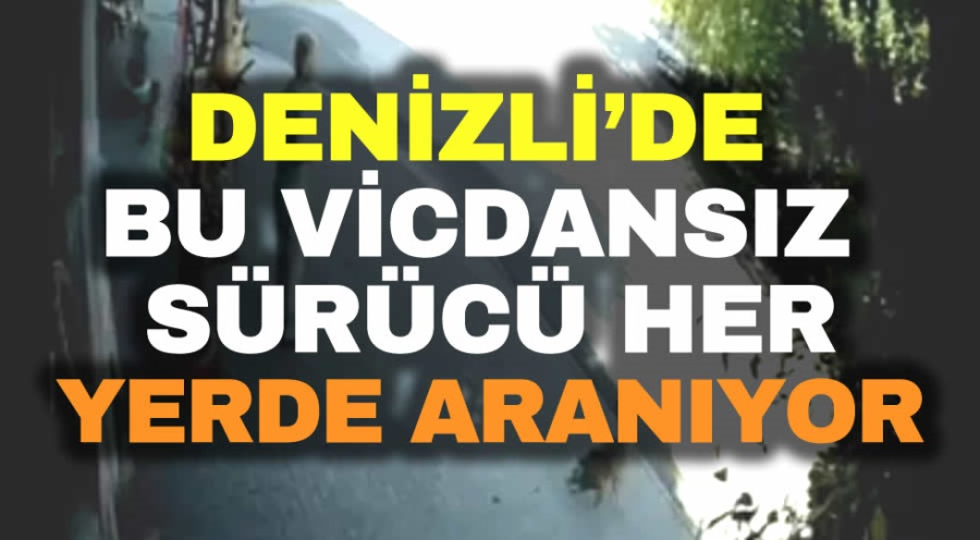DENİZLİ'DE BU VİCDANSIZ SÜRÜCÜ ARANIYOR - OBJEKTİF DENİZLİ HABER
