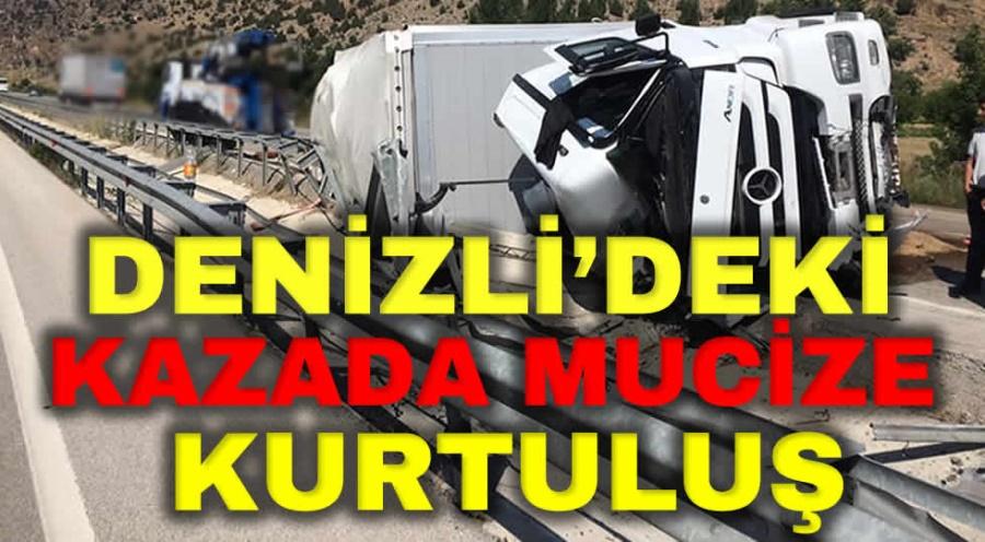 DENİZLİ'DEKİ KAZADA MUCİZE KURTULUŞ - OBJEKTİF DENİZLİ HABER