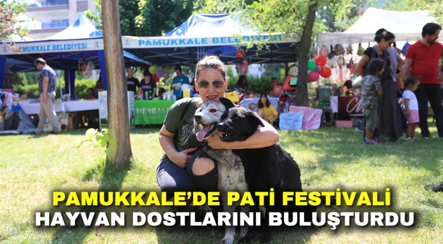 PAMUKKALE'DE PATİ FESTİVALİ, HAYVAN DOSTLARINI BULUŞTURDU
