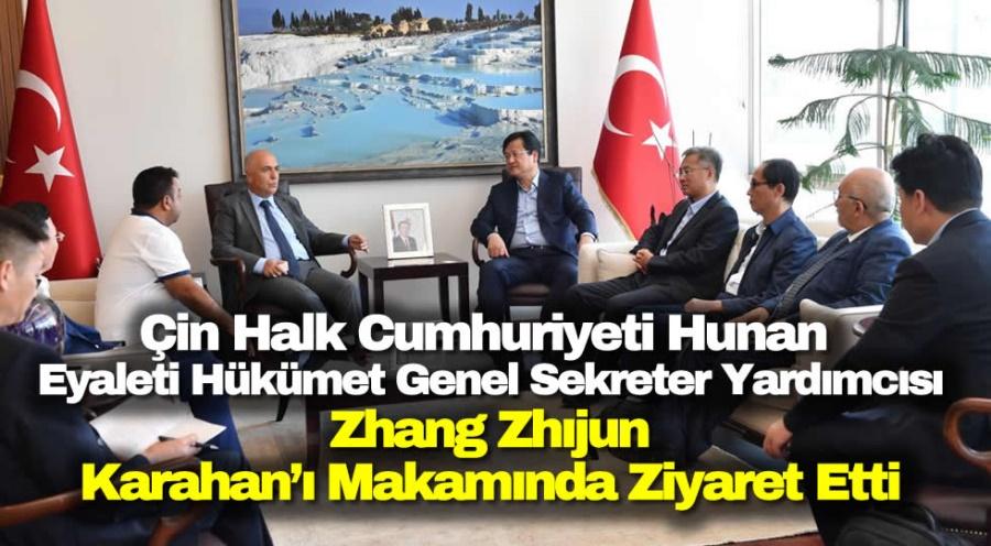 Çin Halk Cumhuriyeti Hunan Eyaleti Hükümet Genel Sekreter Yardımcısı Zhang Zhıjun Vali  Hasan Karahan'ı Makamında Ziyaret Etti - OBJEKTİF DENİZLİ HABER