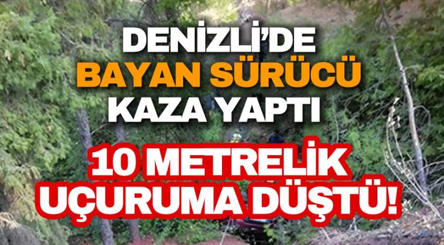 10 METRELİK UÇURUMA DÜŞTÜ! - OBJEKTİF DENİZLİ HABER