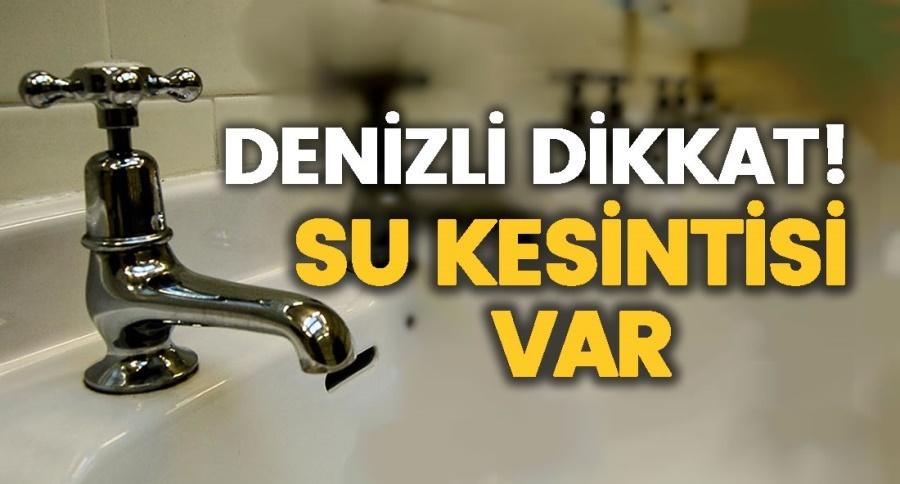 AKTEPE VE ANAFARTALAR 'DA SU KESİNTİSİ