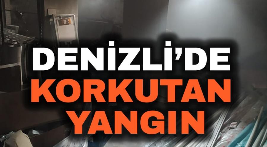 DENİZLİ'DE KORKUTAN YANGIN