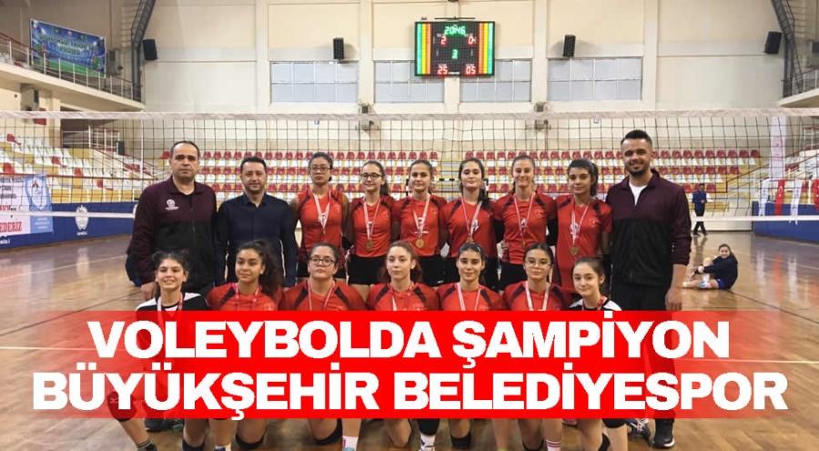 VOLEYBOLDA ŞAMPİYON BÜYÜKŞEHİR BELEDİYESPOR