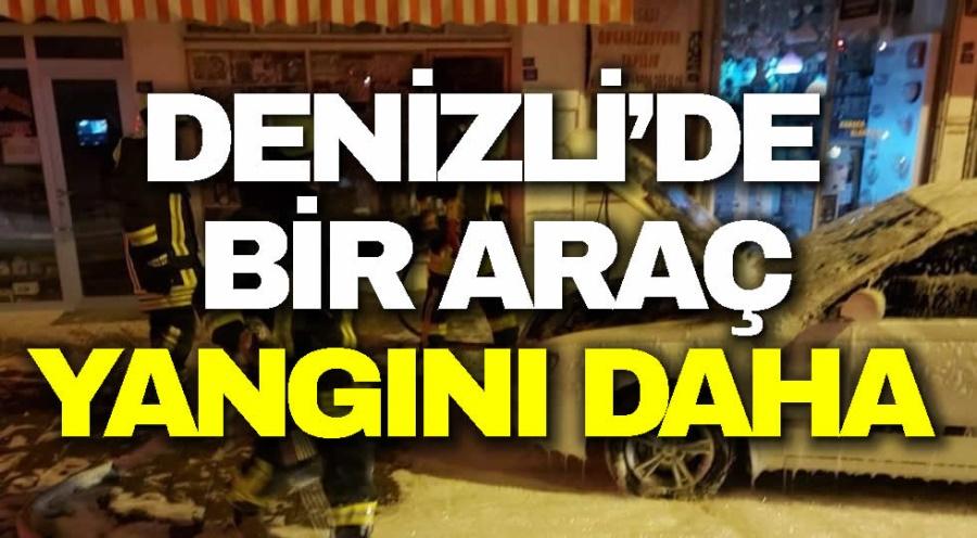 DENİZLİ'DE BİR ARAÇ YANGINI DAHA  - OBJEKTİF DENİZLİ HABER