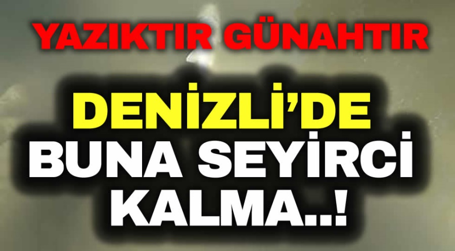 DENİZLİ'DE BUNA SEYİRCİ KALMA