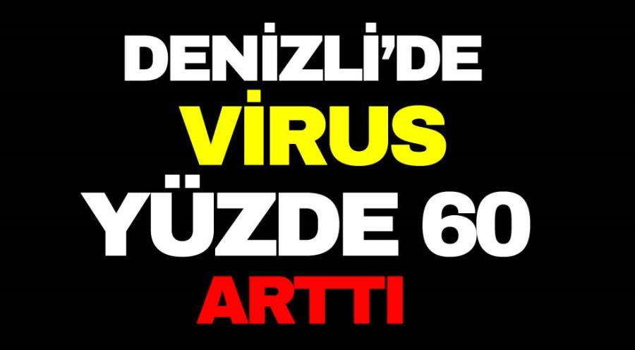 DENİZLİ'DE VIRUS YÜZDE 60 ARTTI - OBJEKTİF DENİZLİ HABER